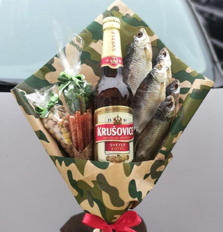 Букет для мужчины на день рождения из рыбы, цветов вакансии