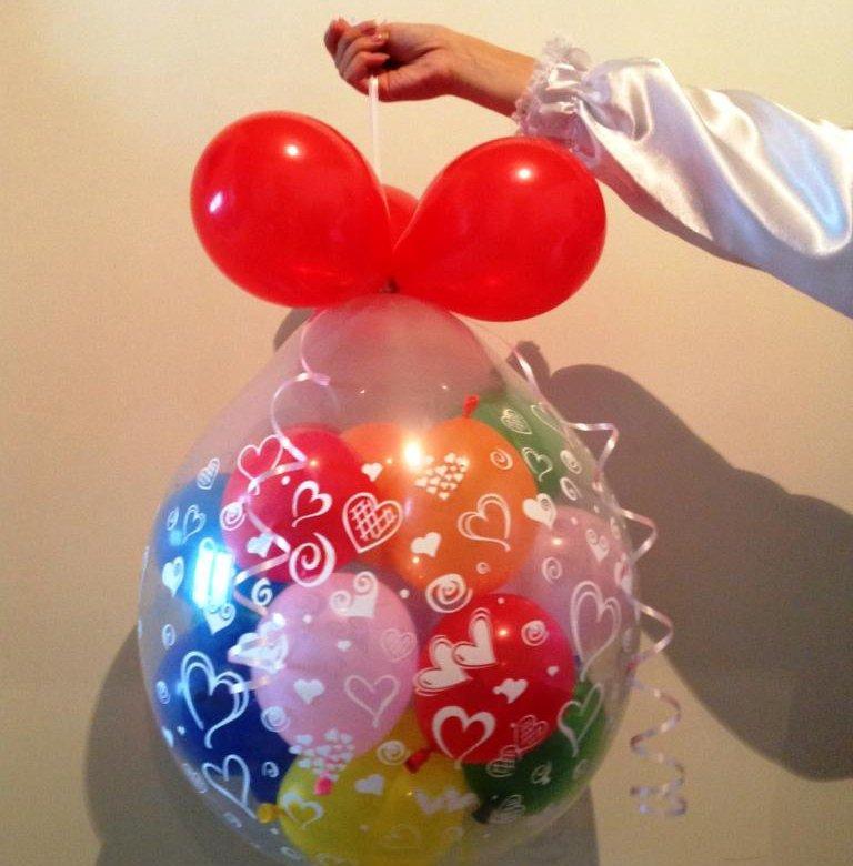 шарики с пожеланиями в большом шаре все