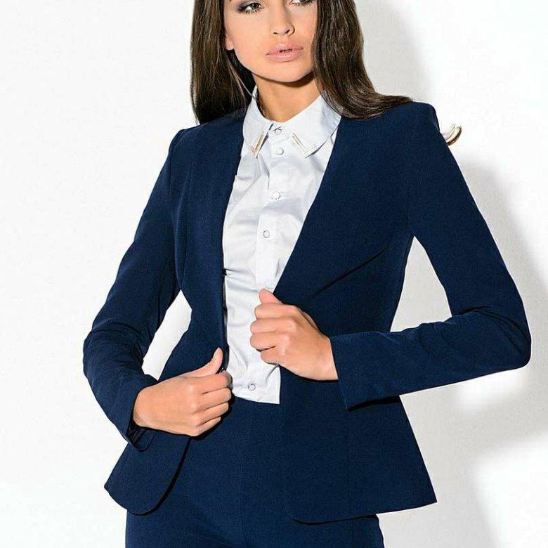 Синий жакет женский фото