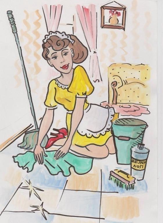Смешная картинка уборки дома