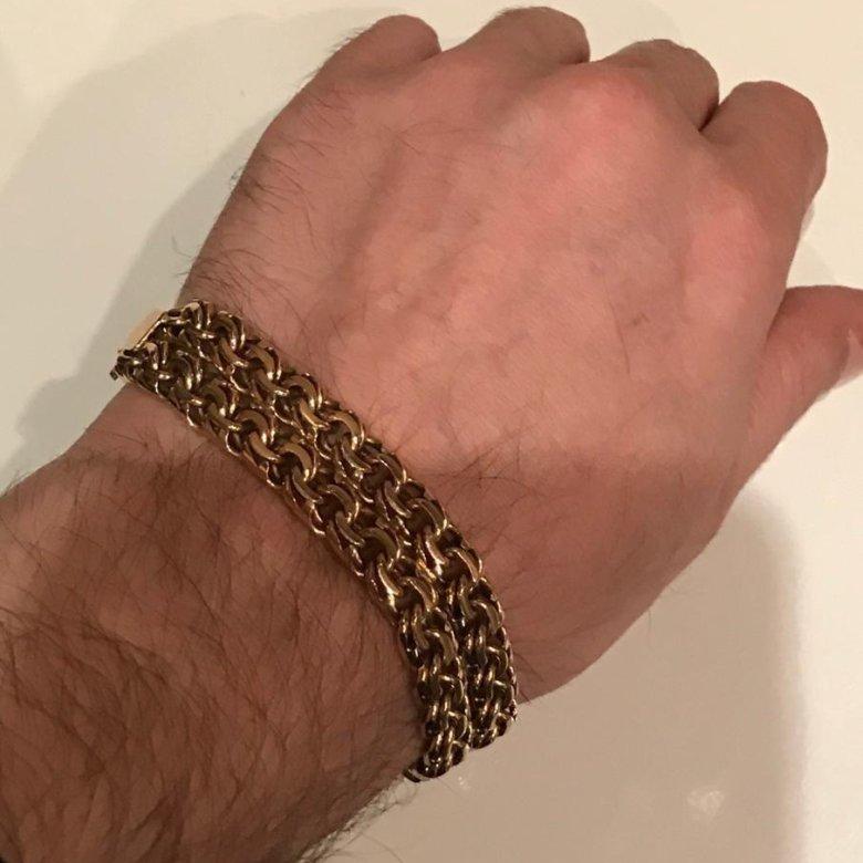мужской золотой браслет на руку тирпиц фото применение увеличивает