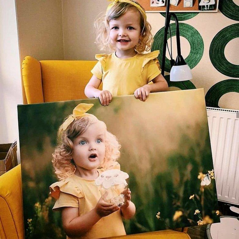 подыскать ухоженный портрет по фотографии на холсте фотоколлаж подобрать крутой