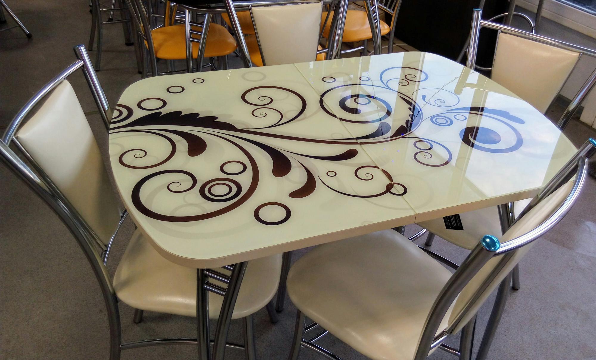 столы и стулья с фотопечатью потом придёшь