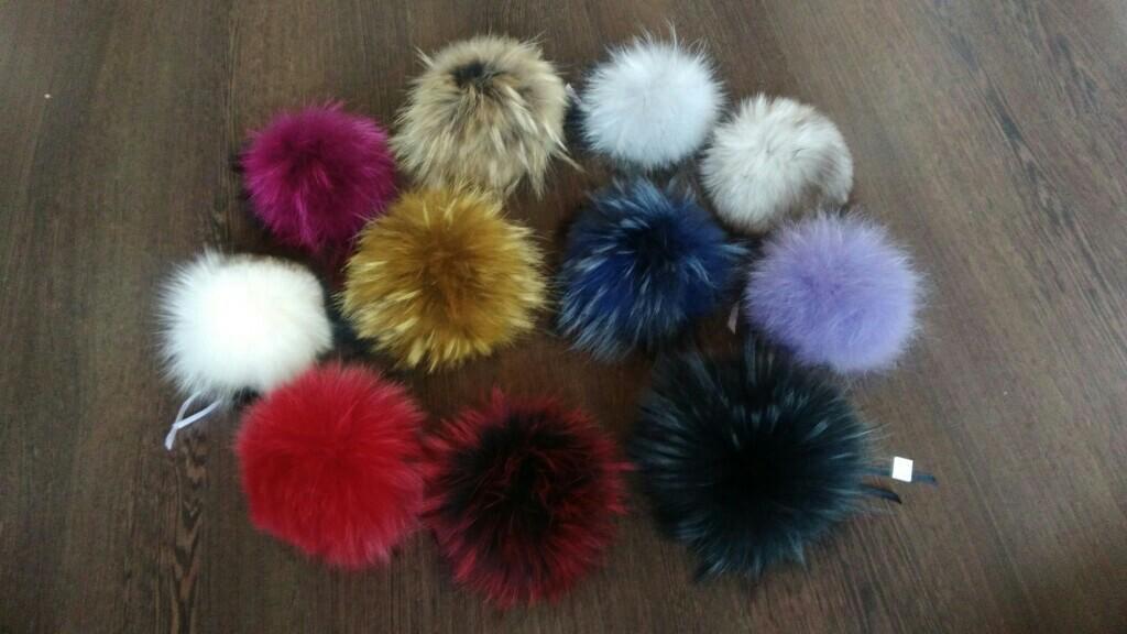 POM-poms of fur