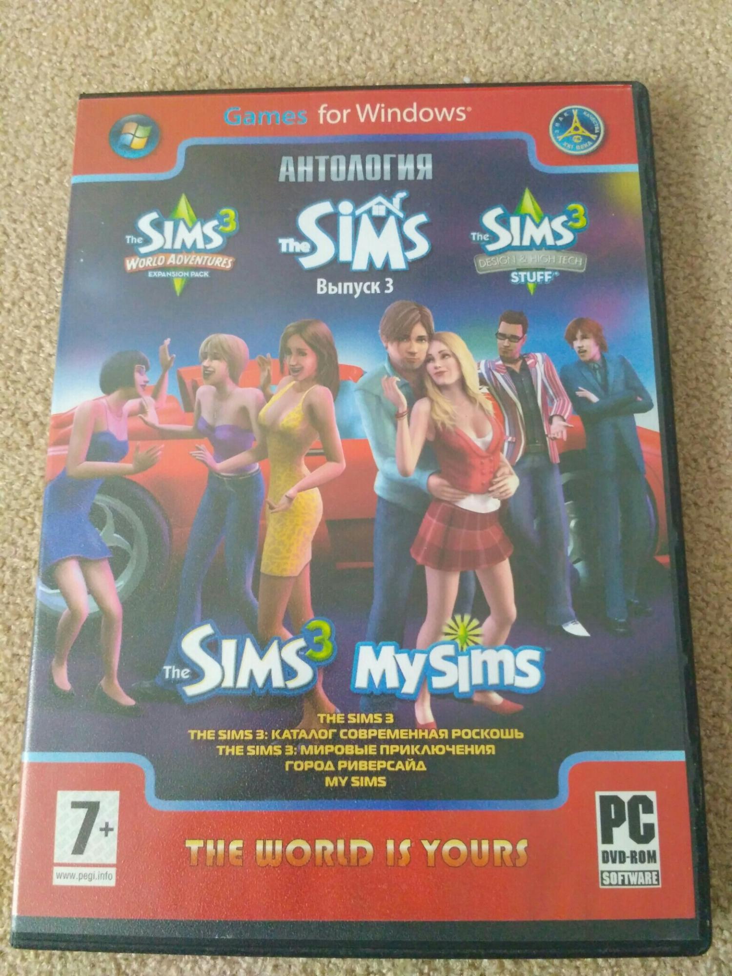 Диски с игрой The Sims, Sims 2, Sims 3 89645127208 купить 2