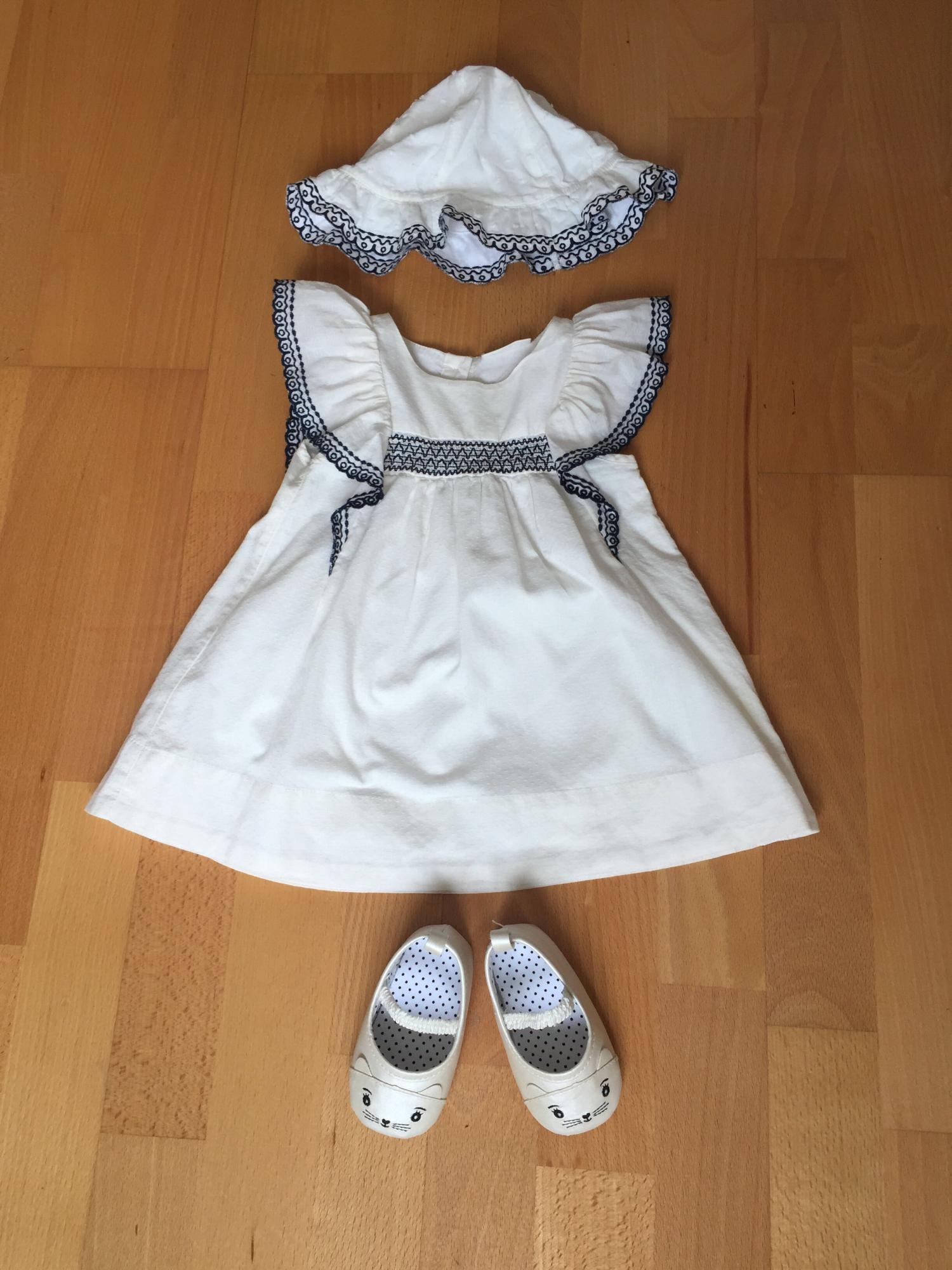 Платье с панамкой Next р.68-74 + пинетки 89099445565 купить 1