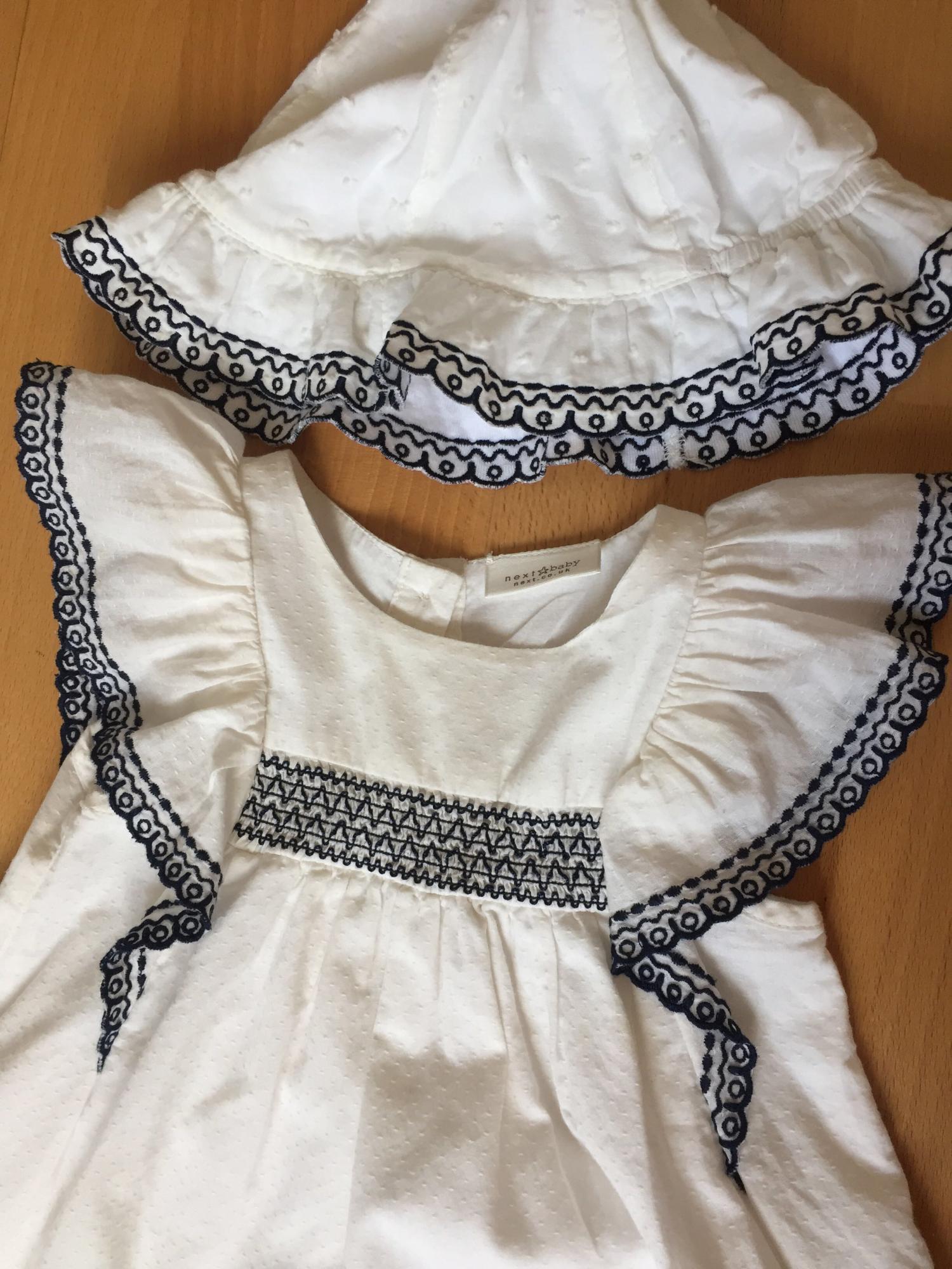 Платье с панамкой Next р.68-74 + пинетки 89099445565 купить 3