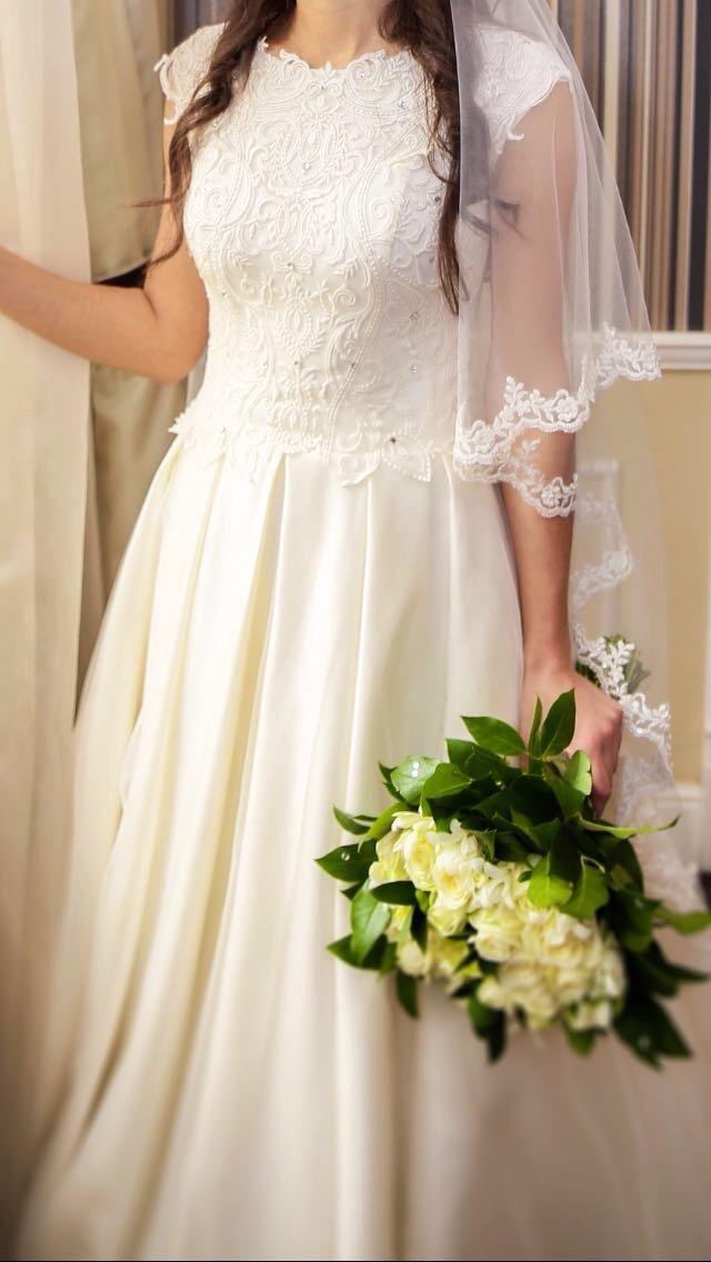 Свадебное платье, А-силуэт в Томилино 89060696848 купить 1