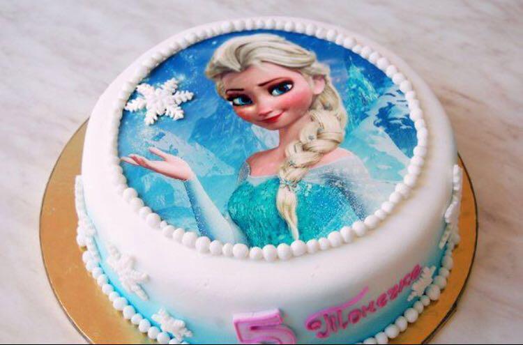 Сахарная или вафельная картинка на торт