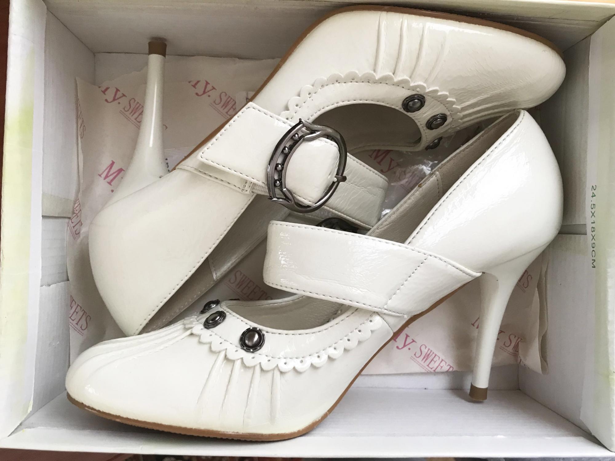 Новые туфли белые р.36 89269379102 купить 1