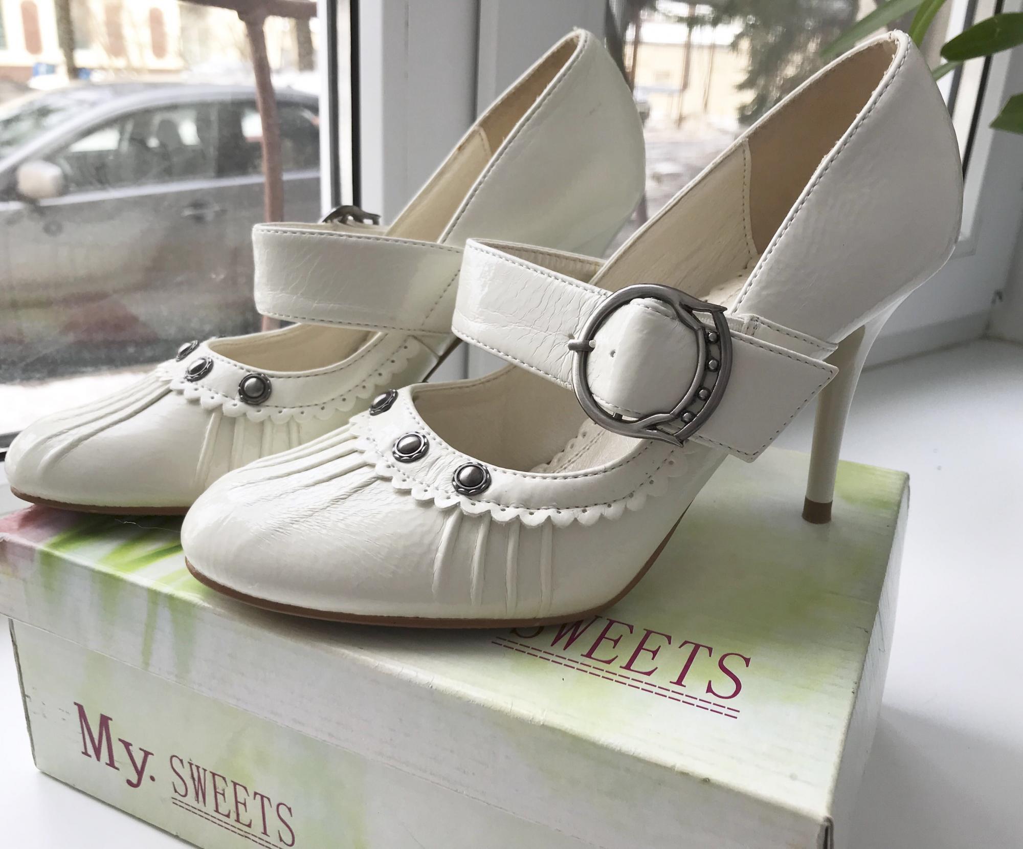 Новые туфли белые р.36 89269379102 купить 4