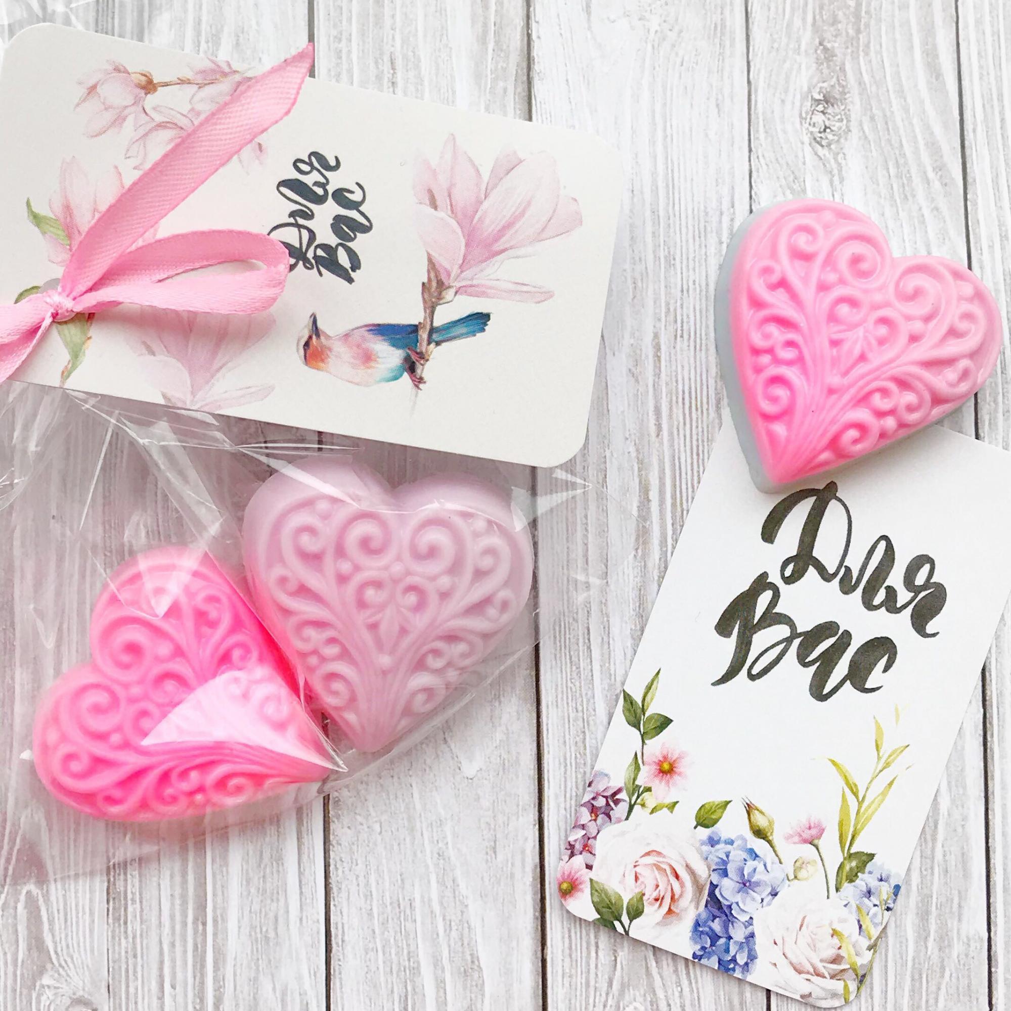 Мыло-сердце Бонбоньерки на свадьбу