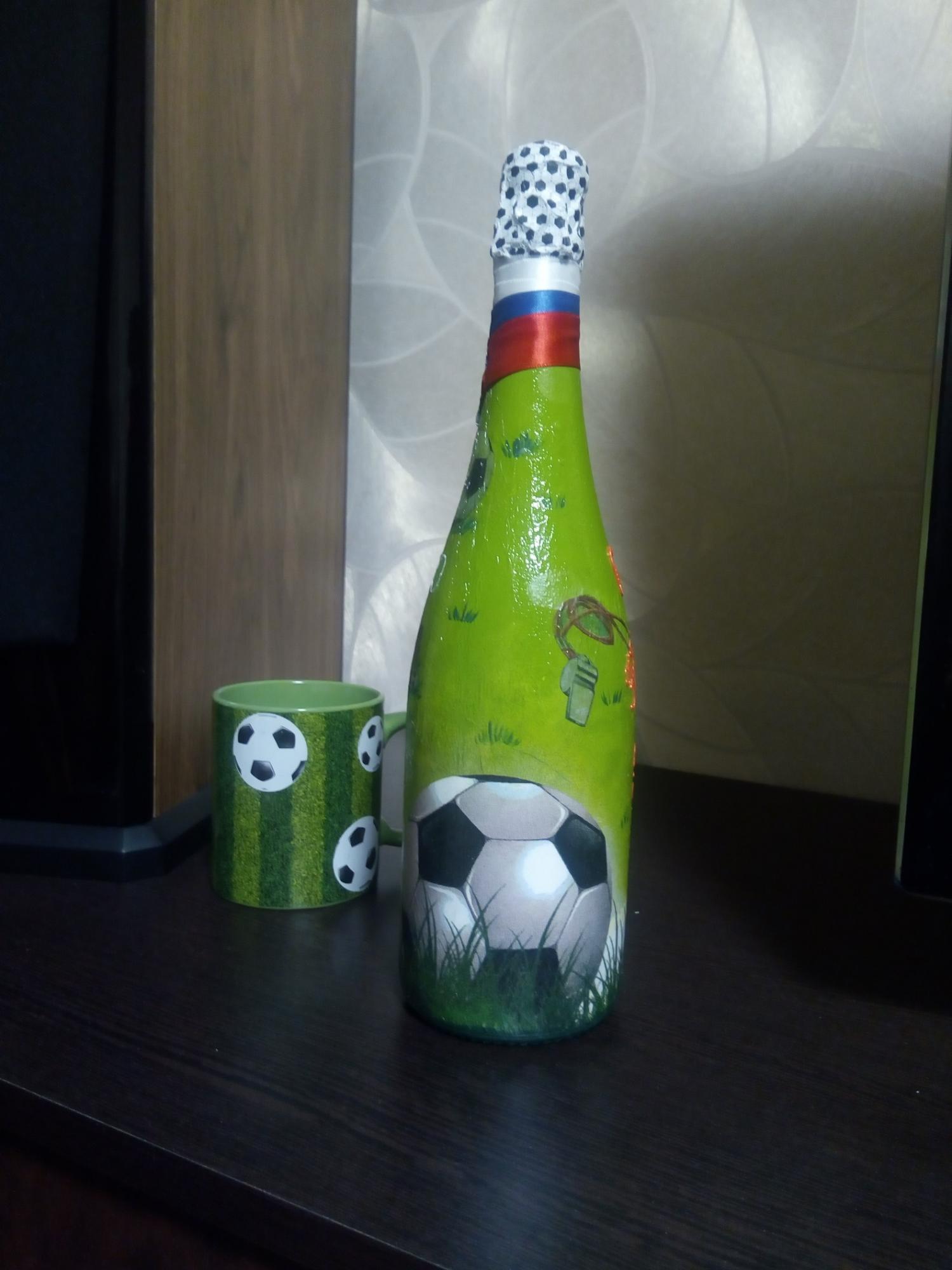 Эксклюзивный подарок. Бутылка в технике декупаж 89629181302 купить 4