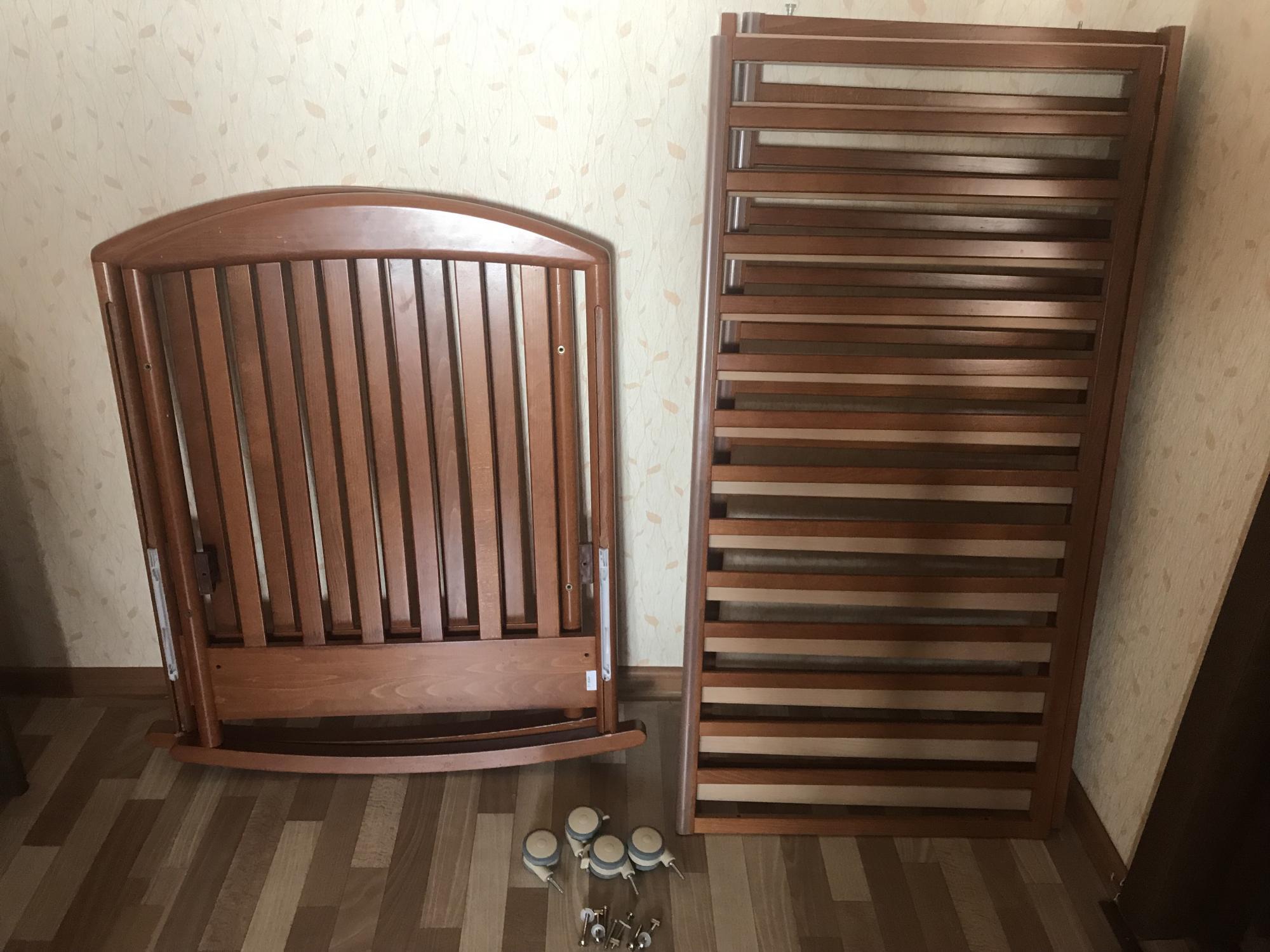 Итальянская кроватка Papaloni с матрасом