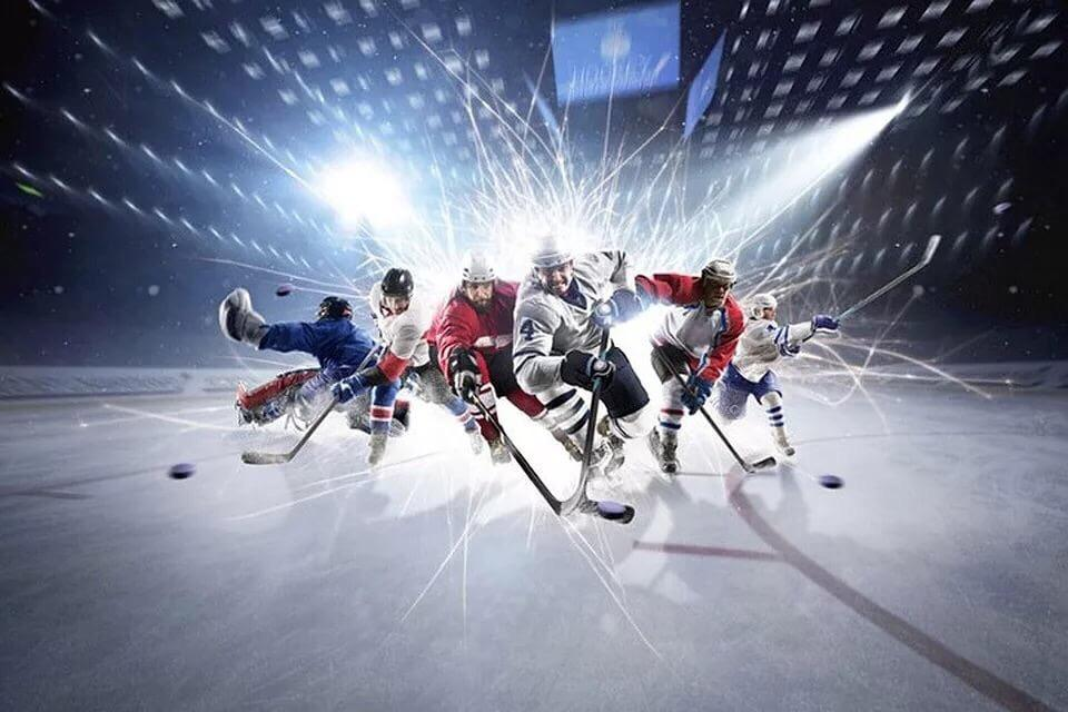 Hockey game training in Moscow