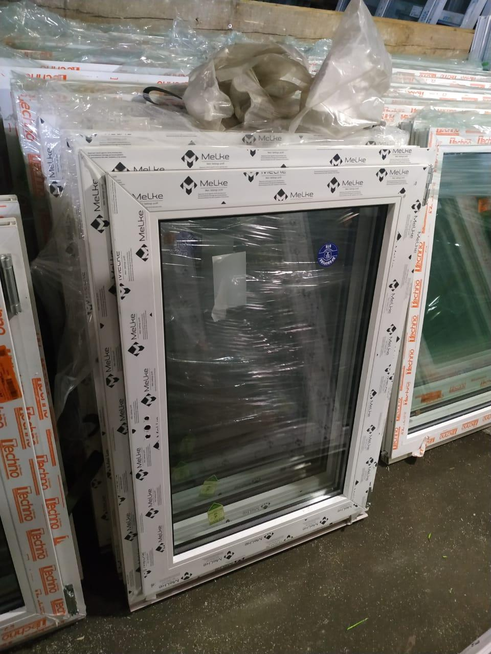 Готовое пластиковое окно одностворчатое 700x800 в Москве 89253899134 купить 1