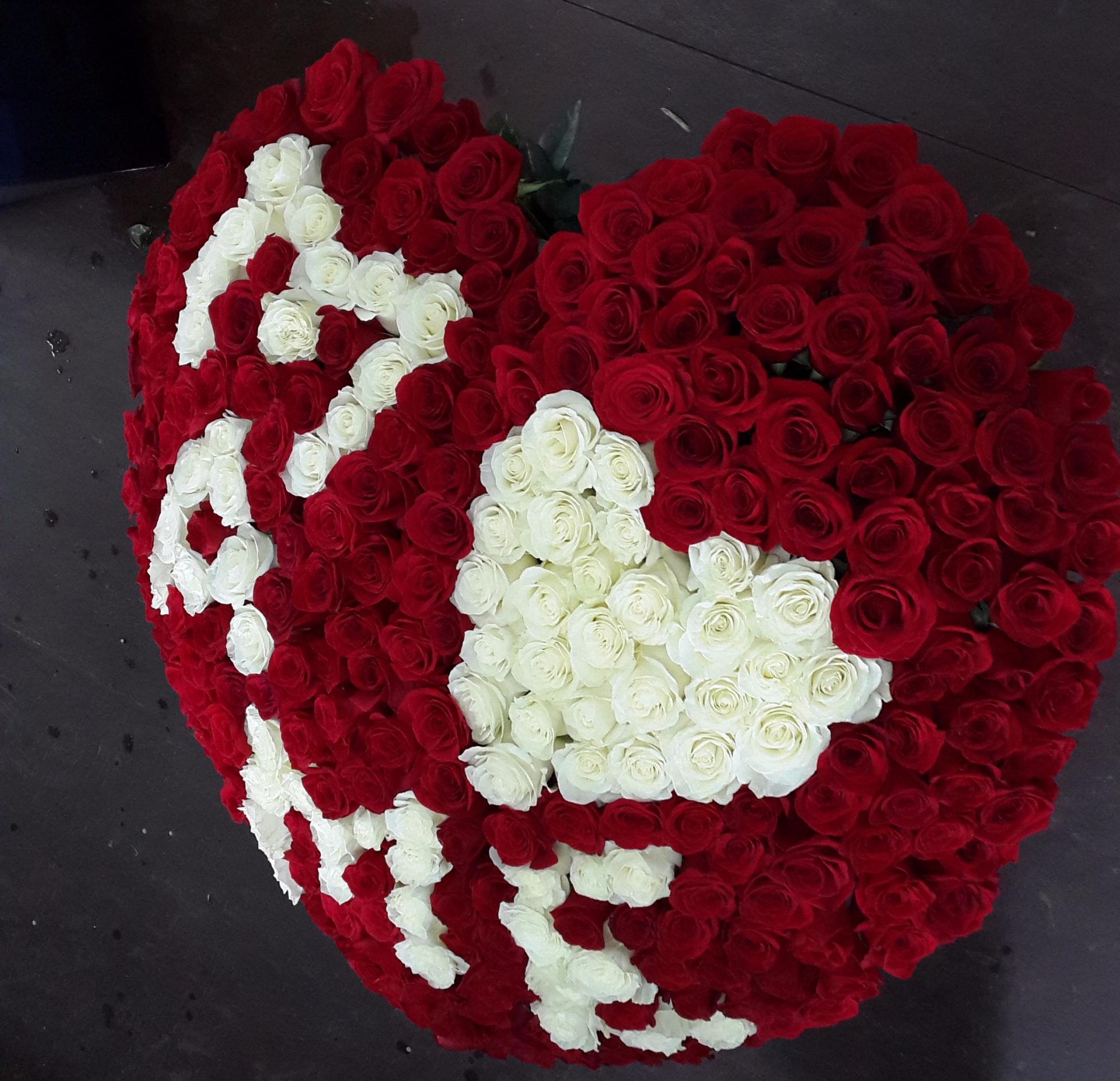 картинки сердца из больших букетов цветов себя