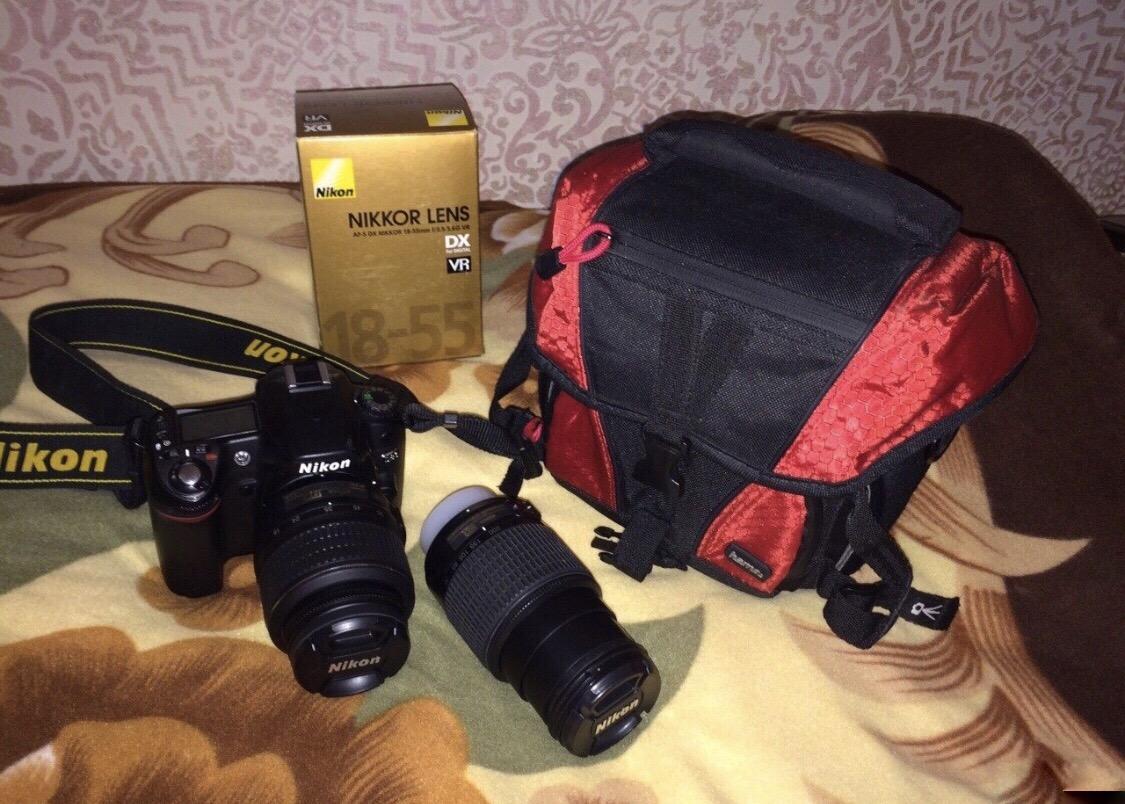 Nikon d80 и два объектива в Москве