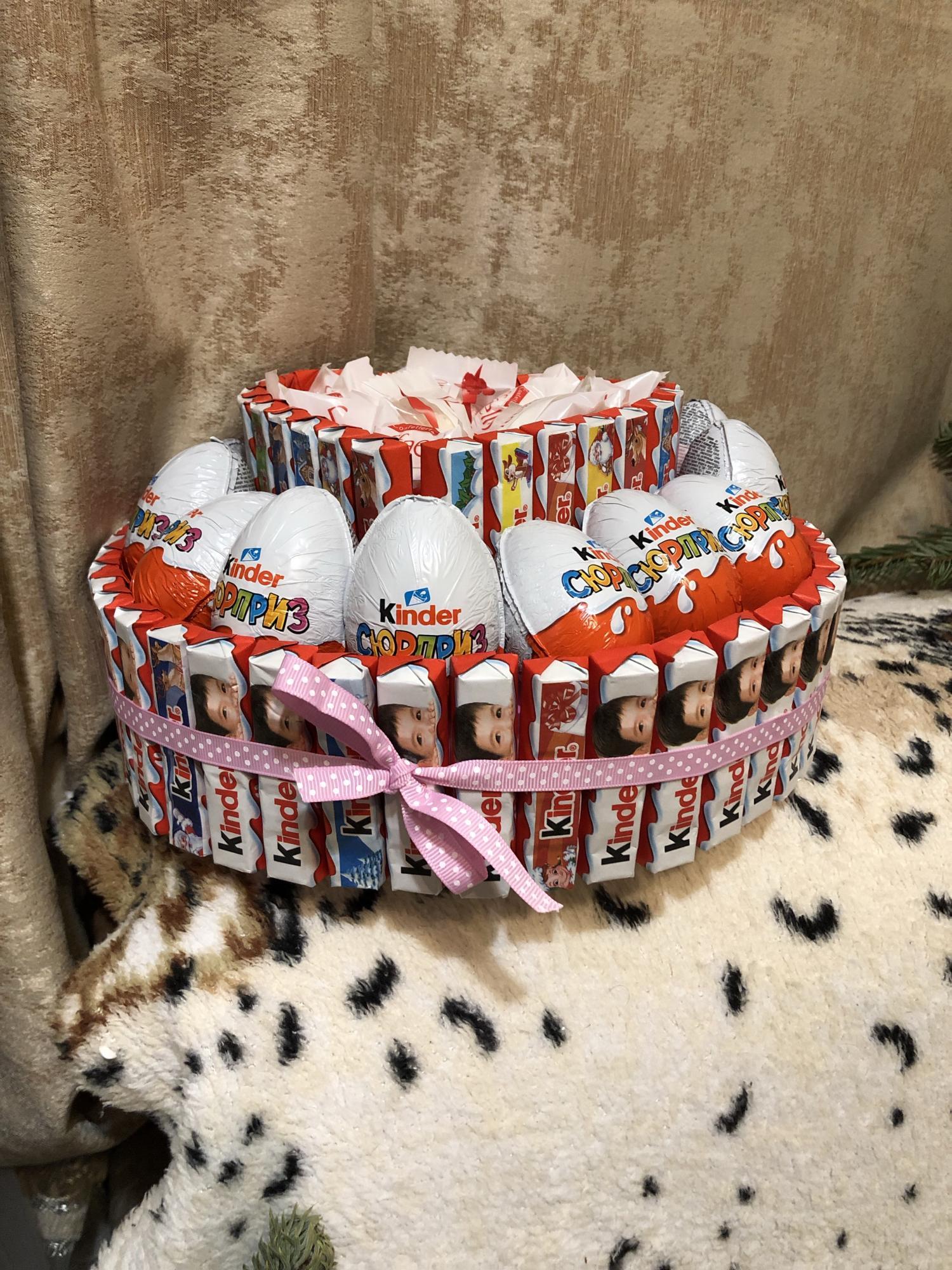 Торт из киндера в Москве купить 4