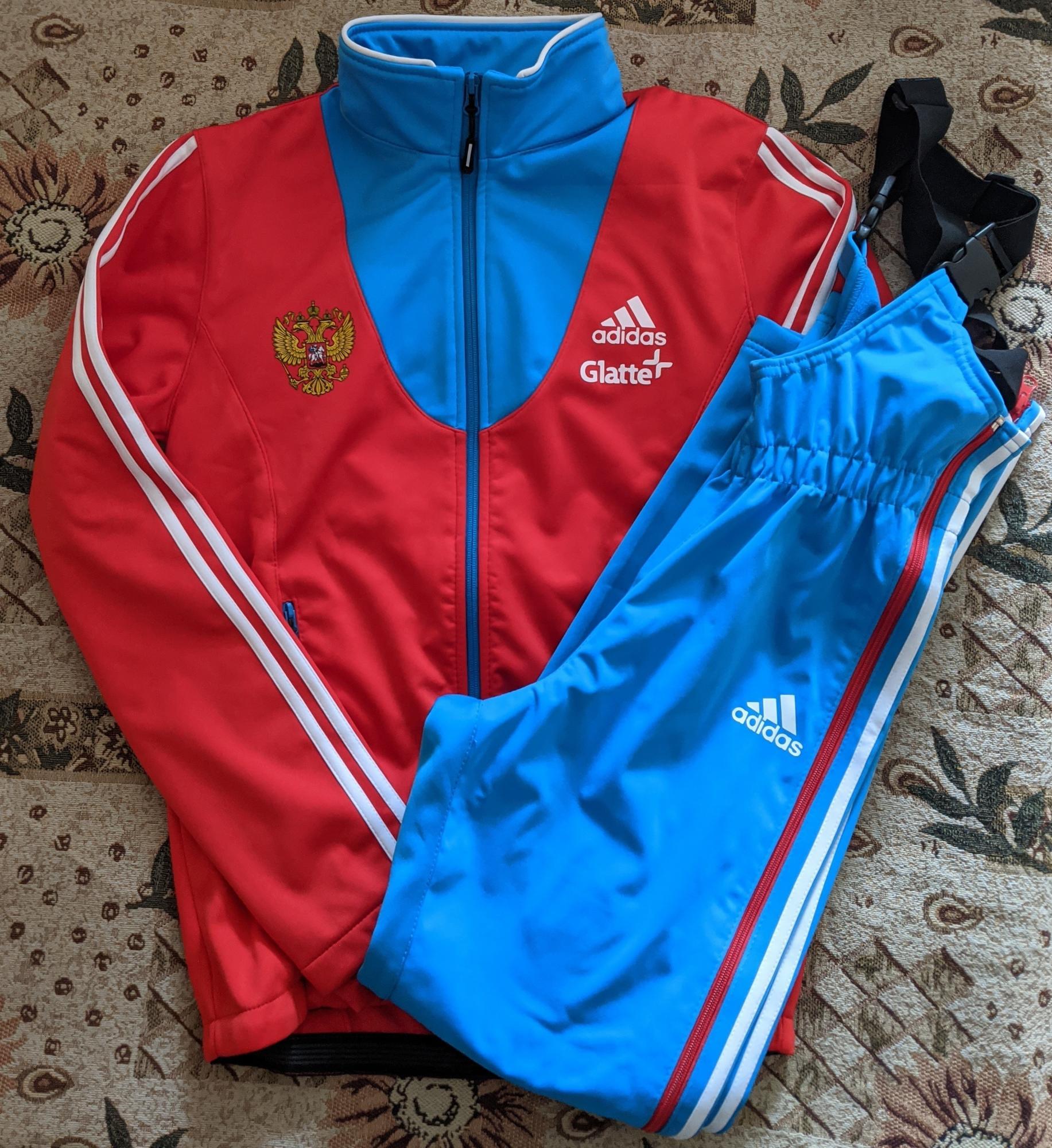 Новая лыжная разминка Adidas сборной России в Москве купить 1