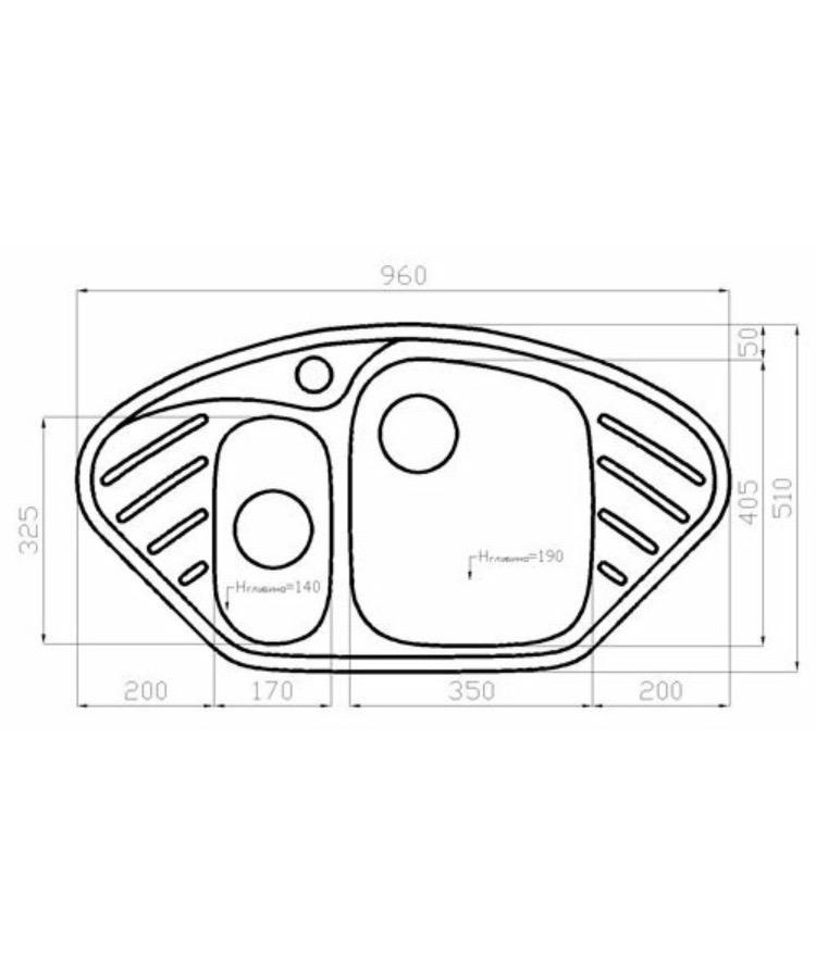 Кухонная мойка Polygran f-14 искусствен мрамор 89302707917 купить 2