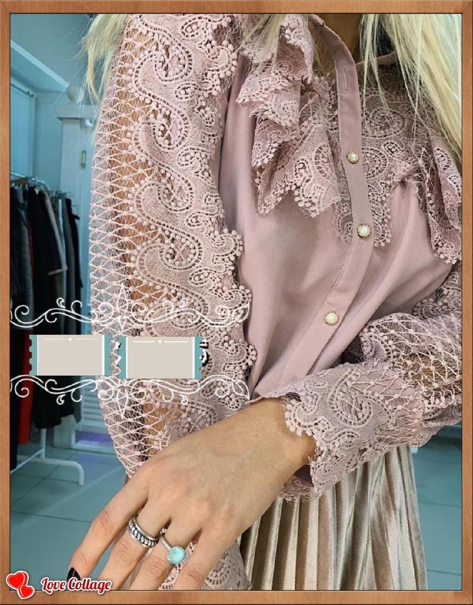 Блузы с кружевом