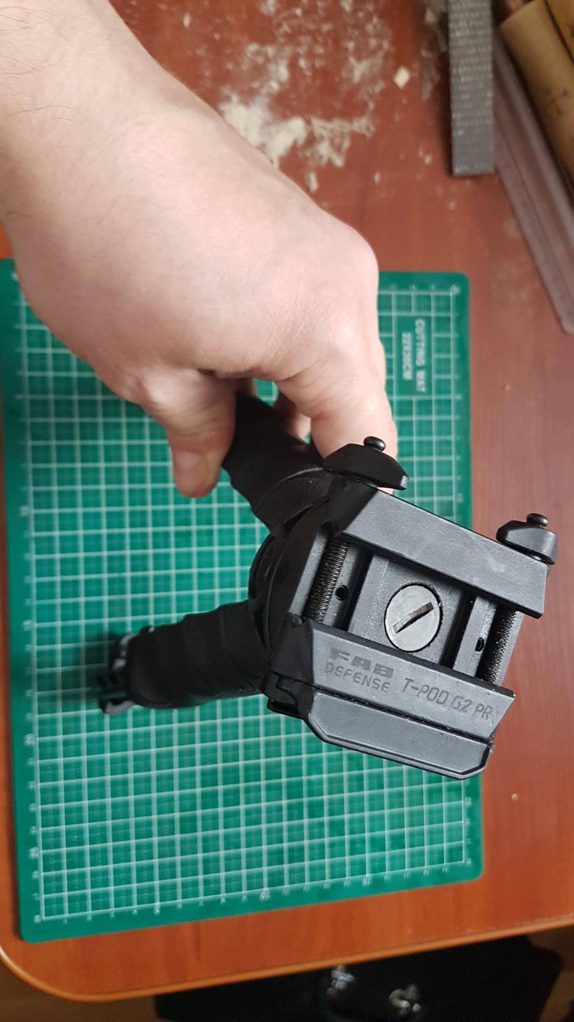 Рукоять-сошка T-POD G2 поворотная тактическая в Москве 89035910735 купить 1