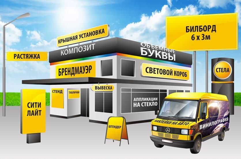 Реклама наружная, баннеры, вывески в Москве 89303075671 купить 1